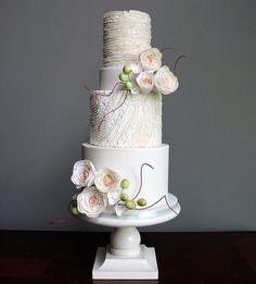 White Shannon Bond Cake Design