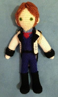 "Hans Doll from the Disney movie ""Frozen""(8inches tall) - Free Amigurumi Crochet Pattern - PDF click ""download"" or ""free Ravelry download"" here: http://www.ravelry.com/patterns/library/hans-crocheted-doll"