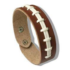 Softball Baseball Bracelet Snap Button Wristlet Fashion Sports Leather Weaving Bracelet Snap Jewelry 12 Colors #Affiliate