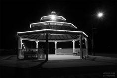 Gazebo and Streetlamp by Adrienne Scap