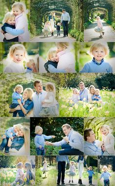 family photo shoot in the daffodils