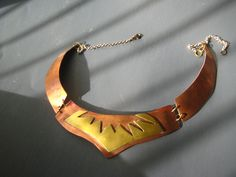 copper with brass necklace