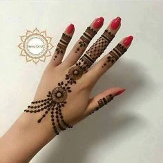 Very Simple Henna Hand Tattoos . Very Simple Henna Hand Tattoos . New Bridal Mehndi Designs, Mehndi Designs For Fingers, Henna Designs Easy, Mehndi Art Designs, Beautiful Henna Designs, Latest Mehndi Designs, Henna Tattoo Designs, Bridal Henna, Finger Henna Designs