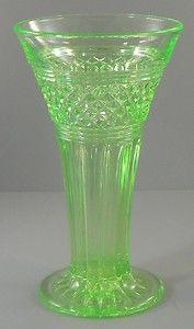 Uranium Glass Trumpet Vase Vintage  http://www.ebay.com/itm/Uranium-Glass-Trumpet-Vase-Vintage-/330713636079?pt=LH_DefaultDomain_0=item4d00119cef#ht_3452wt_754