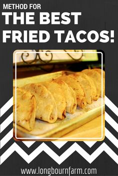 Learn the easiest method for homemade fried tacos! So good. #food #dinner…