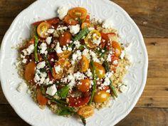 Recette Salade de quinoa, poivrons grillés, feta et asperges, par - CerisesetfriandisesPtitchef