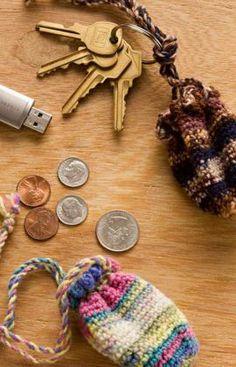 Best Free Crochet » Free Crochet Pattern Key Ring Pouch From RedHeart.com #37