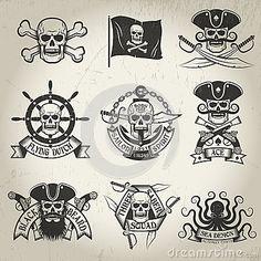 Pirate flag Cappelli Pirata, Teschio Pirata, Tatuaggi Old School, Tatuaggi  Braccio, Tatuaggi