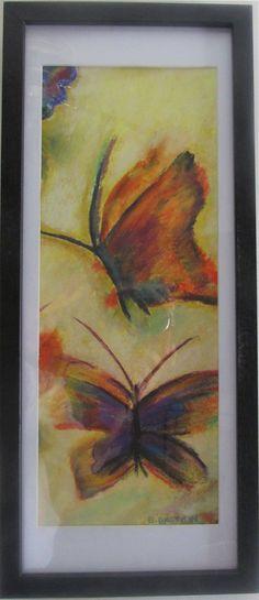 Mariposas en pastel 2do. 16 x 42 cms. Vendido en exposicion a Ana María $270.00
