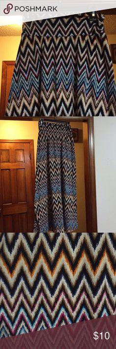 Pretty Chevron Skirt Maxi skirt. Good condition. Only worn a few times. Joe B Skirts Maxi