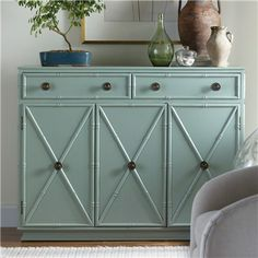 Somerset Bay - Gustavia Cabinet  #painted #furniture #storage #bamboo