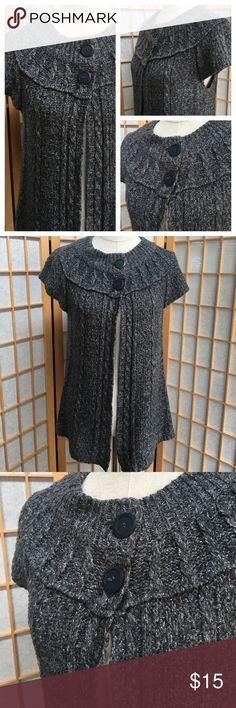 """Sonoma Grey Sweater Cardigan SZ L Two button closure grey cardigan...approximate measurements.  bust 18"""".....length 28""""..... Sonoma Sweaters Cardigans"""