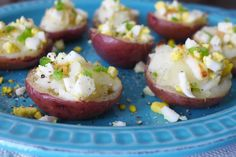 Red Potato Cotija Boats with Hard-Boiled Eggs and Jalapeño
