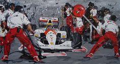 Quadro Airton Senna Pit Stop