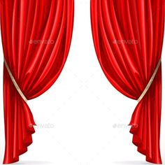 Buy Red Curtain Collected in Folds Ribbon by azuzl on GraphicRiver. Red curtain collected in folds ribbon isolated on a white background Ikea Curtains, Ribbon, Red, Fonts, Collection, Home Decor, Tape, Designer Fonts, Band