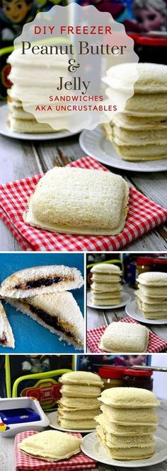 Freezer Peanut Butter and Jelly Sandwich How to Make Freezer PB & J - DIY Peanut Butter and Jelly Sandwiches are perfect for grab and go lunches!How to Make Freezer PB & J - DIY Peanut Butter and Jelly Sandwiches are perfect for grab and go lunches! Make Ahead Freezer Meals, Freezer Cooking, Cooking Tips, Freezer Recipes, Cooking Videos, Individual Freezer Meals, Freezer Desserts, Cook Desserts, Cooking Kale
