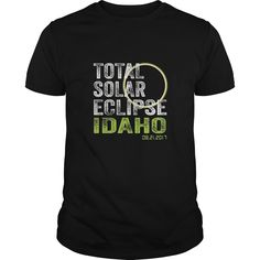 Idaho Total Solar Eclipse August 21 2017 State T-Shirt.
