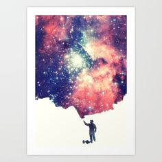 Buy Painting the universe Art Print by badbugsart. Worldwide shipping available at Society6.com. Just one of millions of high quality products available.