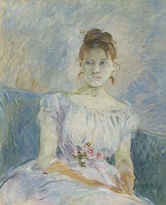 Berthe Morisot (1841-1895) | Paule Gobillard en robe de bal | late 19th Century, Paintings | Christie's