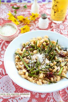 Roasted Asparagus & Sun-Dried Tomato Pasta | FamilyFreshCooking.com