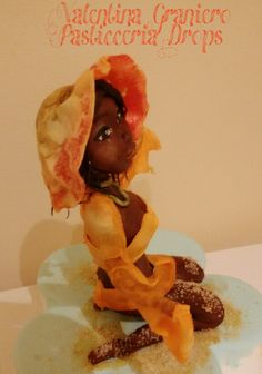Sugar Doll dressed with wafer paper
