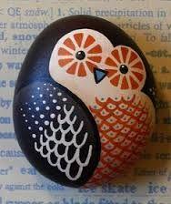 taş boyama sanatı baykuş ile ilgili görsel sonucu