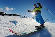 Snow Australia - skiing at Falls Creek snow resort in Victoria, Australia #snowaus