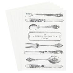 dinner party invitations - pack of 8 from Paperchase Dinner Party Invitations, Invites, Paperchase, Stationery, Gift Wrapping, Entertaining, Aunt, Celebrations, Cards