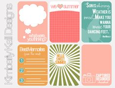 This Kalil Life: Printables  Awesome free printable journaling cards