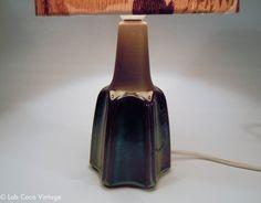 Click to see more photos! Small mid century modern dark blue glazed Søholm Denmark lamp base (Einar Johansen), 1031