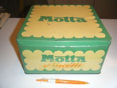 latta scatola biscotti Motta prima metà novecento
