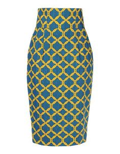 Stella Jean Printed 3/4 Length Skirt, $440 at thecorner. Drawing from her Creole roots, the Rome-born designer incorporates vivid printed textiles into her pieces. This midi skirt is cut slim and meant to be worn with a tucked-in blouse.
