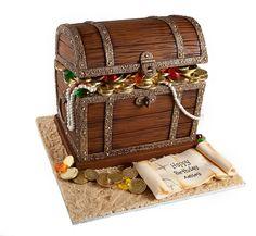 Treasure Chest Cake - Love it!