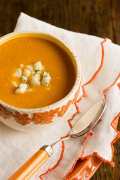 Paula Deen Carrot Soup with Blue Cheese