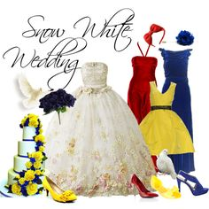 A fashion look from November 2012 featuring gatsby long dress, embellished shoes and cobalt blue shoes. Browse and shop related looks. Wedding Themes, Wedding Colors, Wedding Ideas, Prom Ideas, Disney Inspired Wedding, Disney Weddings, Wedding Disney, Disney Dresses, Disney Outfits