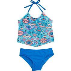 O'Rageous Kids Girls' Tribal Fusion 2-Piece Tankini Swimsuit