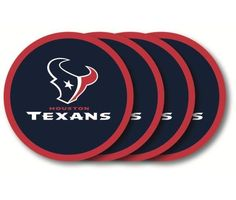 Houston Texans Coaster 4 Pack Set