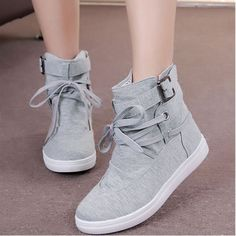 Women Boots Canvas Casual Shoes 2015 New Autumn Winter Fashion Brand Eur Size 36 40 Solid Lace Up Casual Ankle Boot Flats 1524-in Women's Casual Shoes from Shoes on Aliexpress.com | Alibaba Group  http://s.click.aliexpress.com/e/2NfqNF2vV