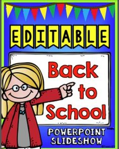 I created a back to school night powerpoint presentation using a this back to school powerpoint slideshow is editable so you can personalize it to fit your toneelgroepblik Image collections