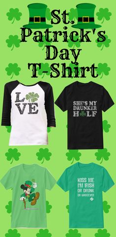 Upgrade your style with St Patrick's Day t-shirts from Zazzle! Browse through different shirt styles and colors. Search for your new favorite t-shirt today! St Patricks Day, Shirt Style, Shirt Designs, Gift, Mens Tops, T Shirt, Supreme T Shirt, Tee Shirt, Gifts