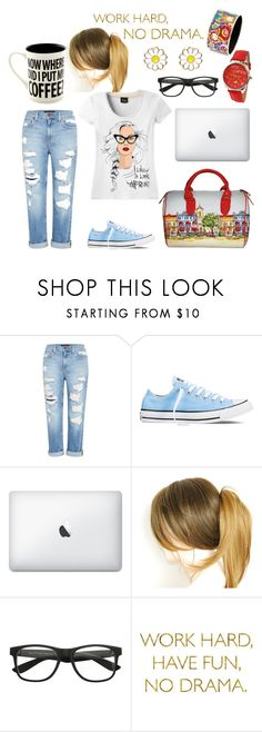 """""""Working Day"""" by alinabathory ❤ liked on Polyvore featuring Genetic Denim, Converse, WALL, FREYWILLE and Monsoon"""