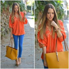 COLOR-BLOCKING TIME (by Raquel Cañas) http://lookbook.nu/look/4574753-COLOR-BLOCKING-TIME