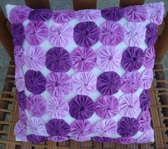 Yo Yo Pillow - Shades of Purple