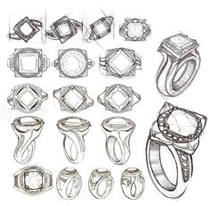 Jewelry from italy Hand Jewelry, Jewelry Art, Jewelry Rings, Jewelery, Ring Sketch, Gem Drawing, Jewelry Design Drawing, Jewelry Illustration, Jewellery Sketches