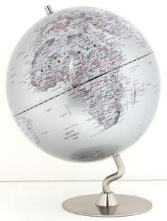 Gros globe terrestre vintage lumineux sur pied haut for Globe lumineux exterieur