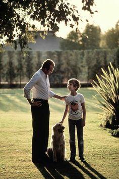 SM el Rey Juan Carlos I con el entonces Principe de Asturias, hoy Rey Felipe VI.