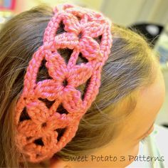 Ravelry: Simple Flower Headband by Christins from My Sweet Potato 3