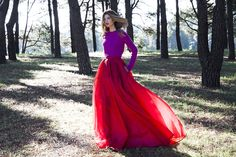 Tanja Gacic from #myempiricallife wearing Rachel Gilbert SS15 Addyson Skirt in Crimson