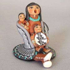 Native American / Indian Storytellers, Rain Gods and Figurative Pueblo Pottery from the Southwest - Pueblo Pottery Maine
