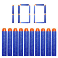 heartybay 7.2cm Refill Bullet Darts for Nerf N-strike Elite Series Blasters Kid Toy Gun. Material:Foam&EVA, non-toxic,safer,healther and reusable. Refill Pack includes 100 Little Valentine darts,Size:1.2cm *7.2cm(0.5in*2.8in), Color:blue. Soft Darts for Nerf N-strike Elite Rampage/Retaliator Series Blasters NERF A0707 A0709 A0710 A0711 A3844 A0712 A0713 A0715 NERF A0714 CS-35 NERF H34069 A4492, and Most OF NERF GUNS. Tip: This is 3rd party dart and the head of each bullet is soft and…